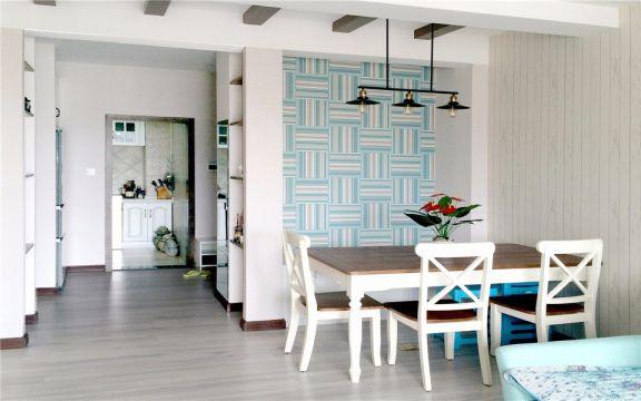 餐厅米色背景墙现代风格装修效果图
