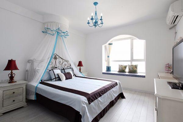 地中海风格90平米三居室装修效果图
