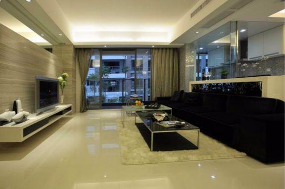 阳光花都三室两厅110平美式装修效果图