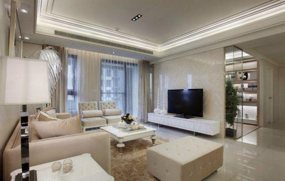 融侨美域两室一厅89平欧式风格装修效果图
