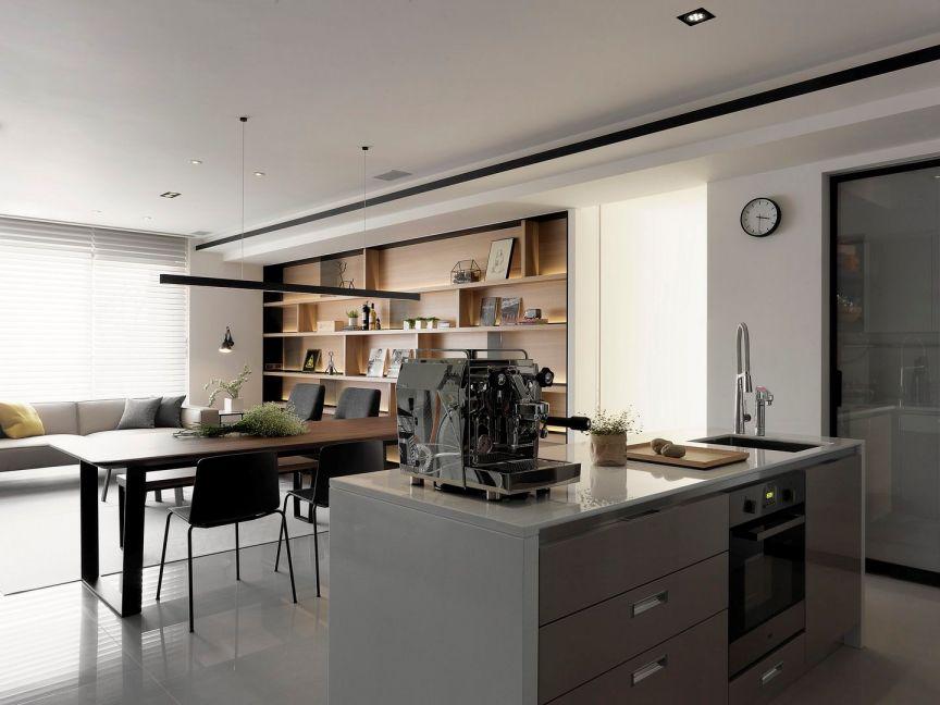 现代简约风格三房120平米装修效果图