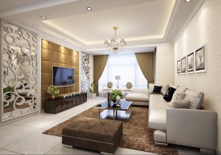 万科西九现代简约风格74平二居室装修效果图