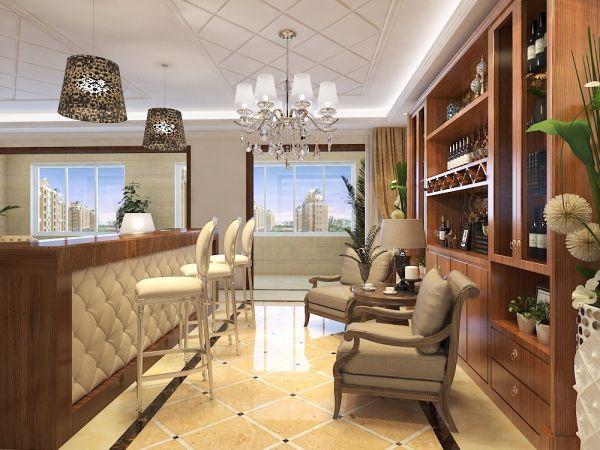 客厅吧台欧式风格装饰设计图片