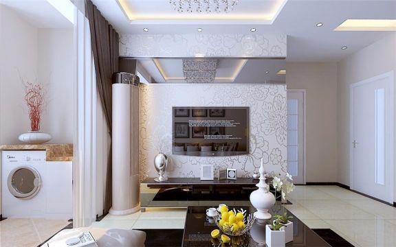 阳台地板砖现代简约风格装潢效果图