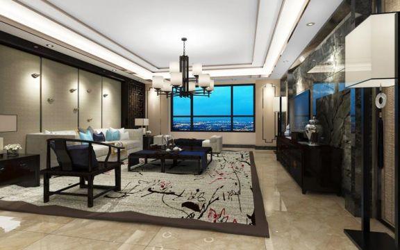 客厅沙发新中式风格装饰效果图