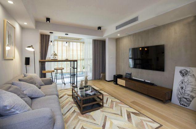 华府公馆78平现代简约二居室装修效果图