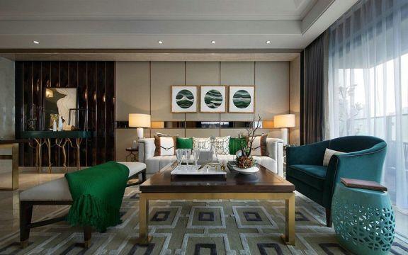 120平三居室新中式风格装修效果图