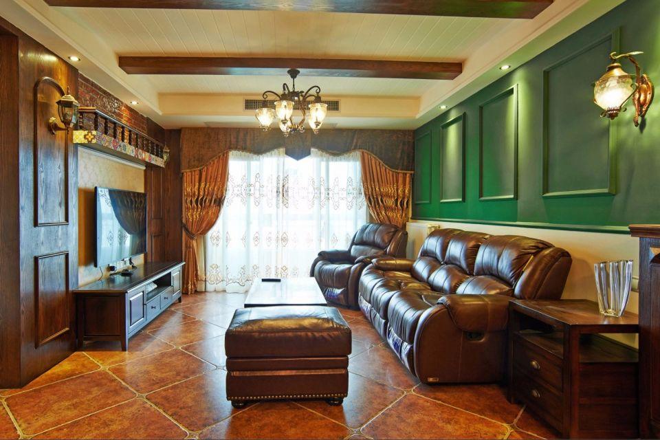 嘉禾园110平美式风格三居室装修效果图