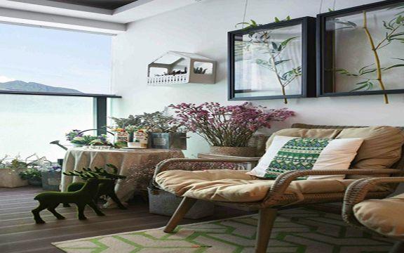 阳台沙发新中式风格装修效果图