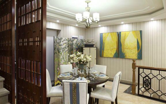 96平三居室新中式装修效果图