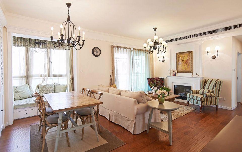 富力城套内90平米简约风格三居室装修效果图