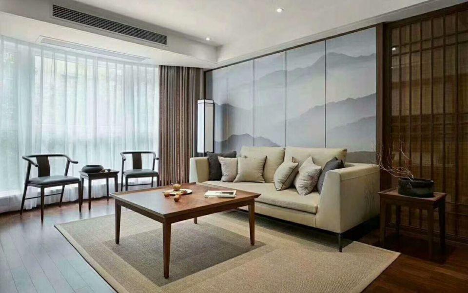 客厅沙发现代中式风格装修图片