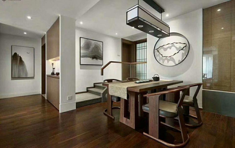 餐厅餐桌现代中式风格装修设计图片