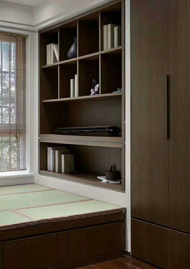书房书架现代中式风格装潢设计图片