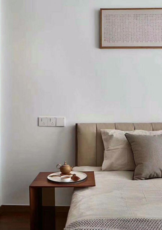 卧室细节现代中式风格效果图