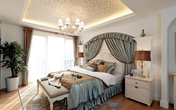 卧室隔断地中海风格装修效果图