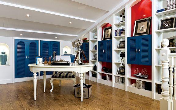 书房书桌地中海风格装饰效果图