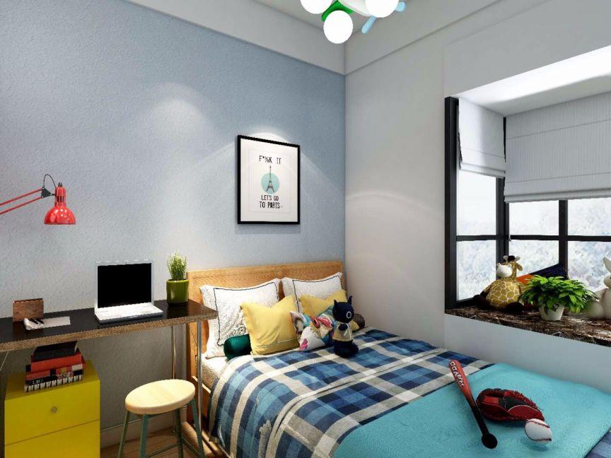 儿童房床现代简约风格装潢设计图片
