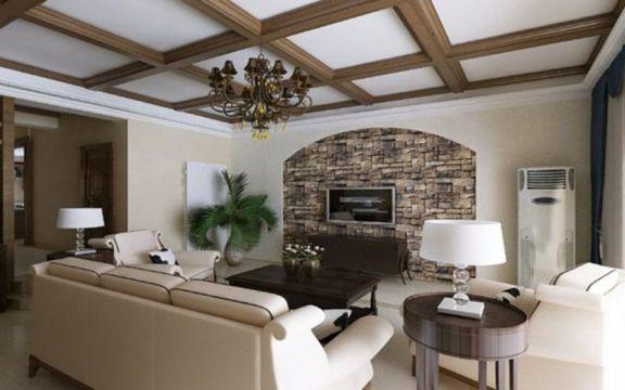 十里蓝山238平米美式风格五室二厅三卫装修效果图
