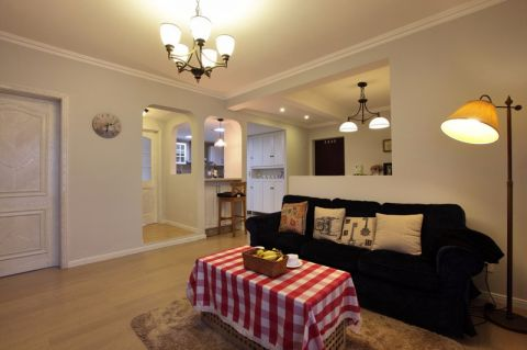 金棕榈95平现代美式三居室装修效果图