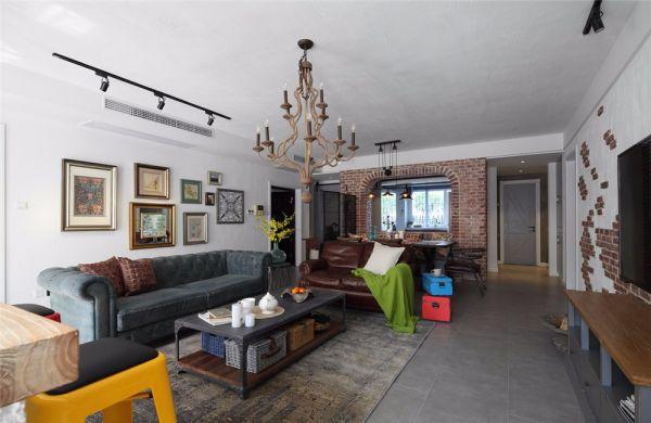 华润国际115平欧式风格三居室装修效果图