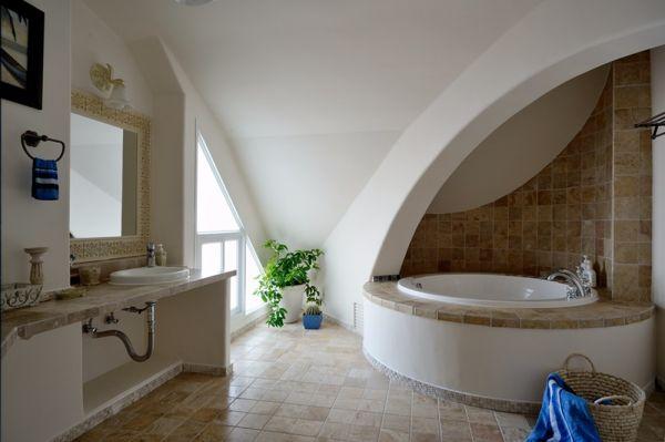 浴室浴缸地中海风格装饰设计图片