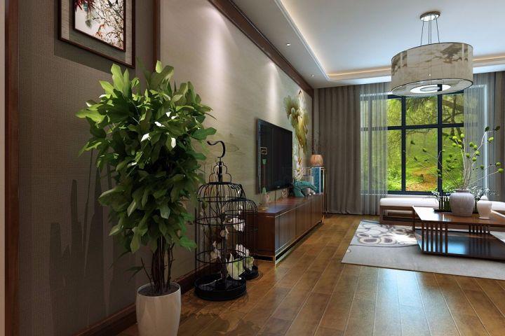 客厅榻榻米美式风格效果图