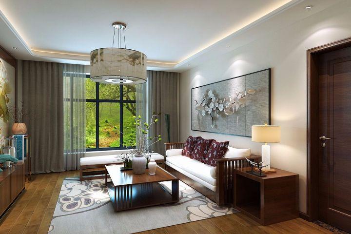 100平米美式风格三居室装修效果图
