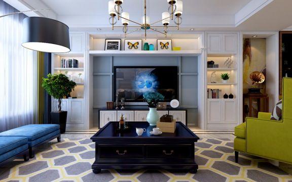 华润悦府140平米现代风格三居室装修效果图