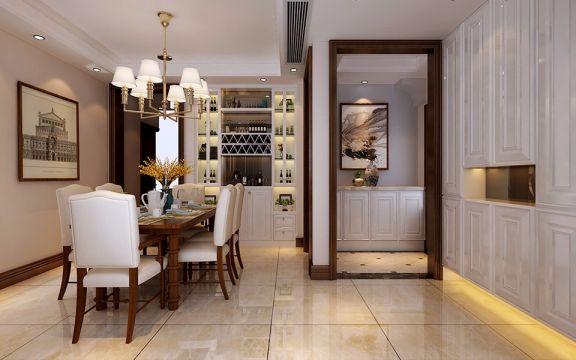 餐厅地板砖美式风格装饰效果图
