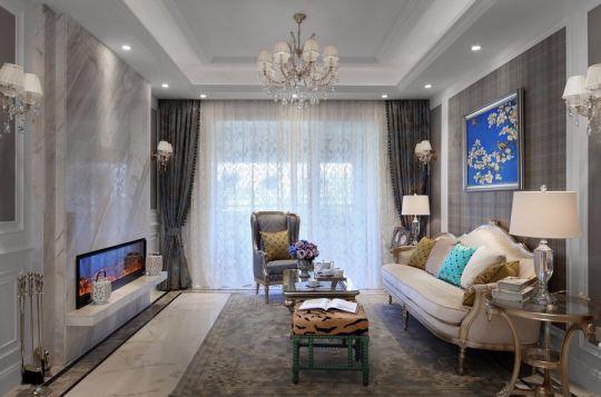 120平米简欧风格三居室装修效果图