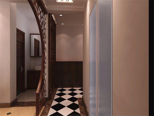 玄关楼梯新中式风格装修设计图片