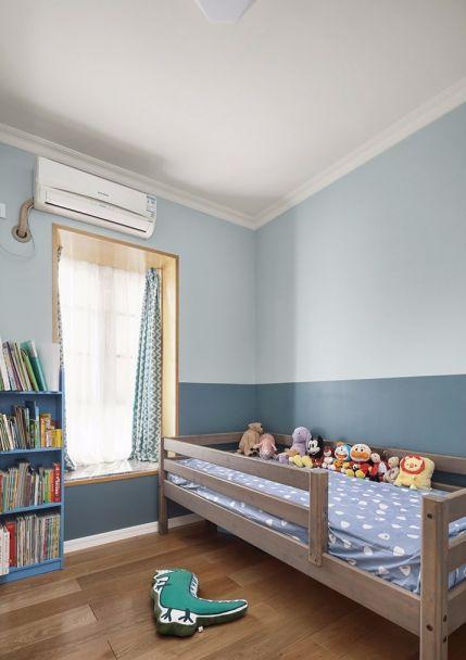 儿童房背景墙北欧风格装修设计图片