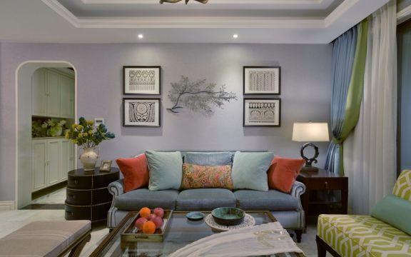 万科城120平混搭风格三居室装修效果图