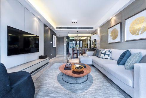 白云小区130平现代简约装修三居室效果图