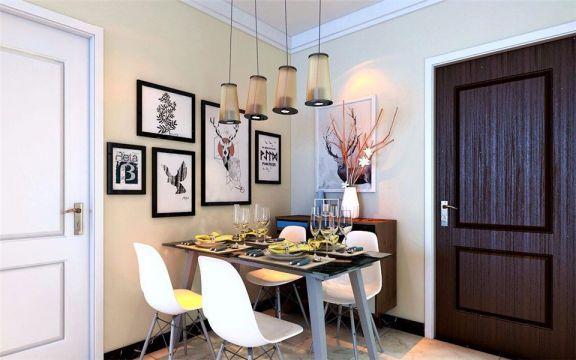 餐厅餐桌现代简约风格装饰图片