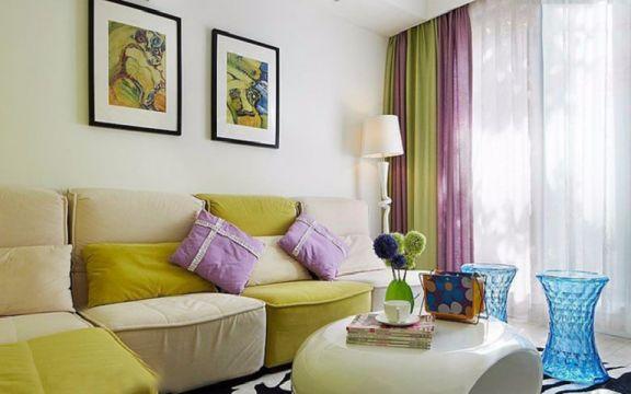 浦上小区两室一厅72平混搭风格装修效果图