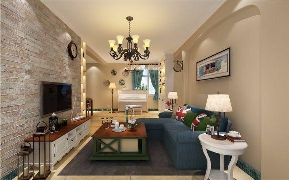 2021地中海110平米装修图片 2021地中海三居室装修设计图片