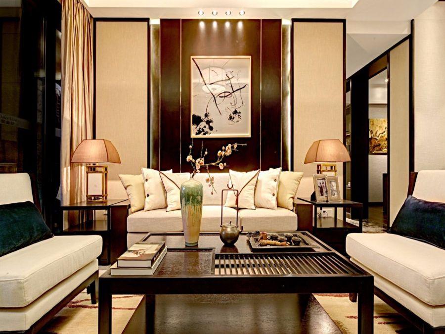2021现代中式120平米装修效果图片 2021现代中式三居室装修设计图片