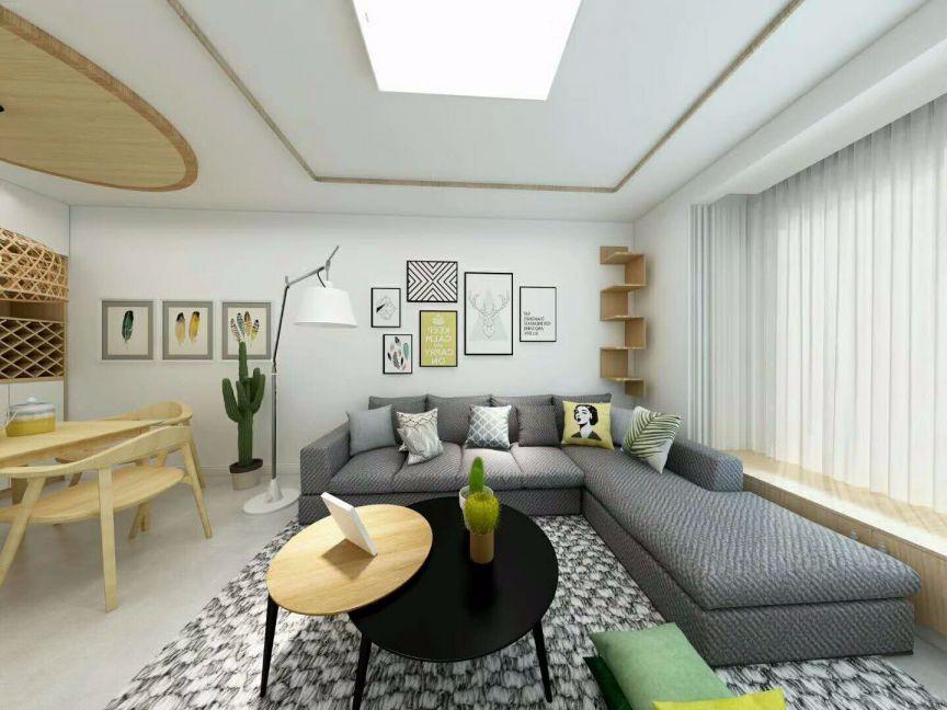 两室一厅北欧风格120平小户型装修效果图