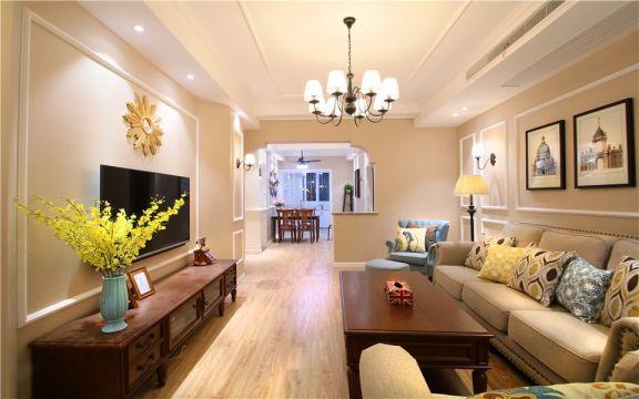客厅米色沙发简欧风格装修图片