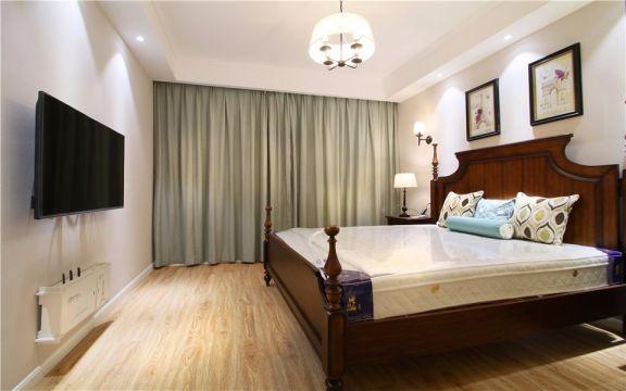 卧室米色灯具简欧风格装潢图片