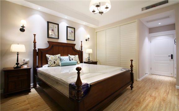 卧室米色细节简欧风格装修设计图片