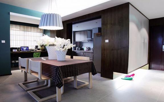餐厅白色吊顶现代风格装饰图片