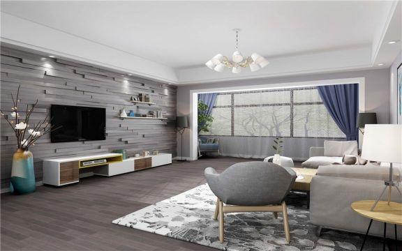 瑞安家园88平米三居室北欧风格装修效果图