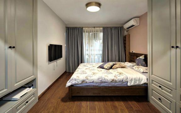 卧室床混搭风格装潢效果图