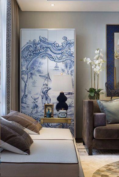 客厅沙发新中式风格装潢效果图