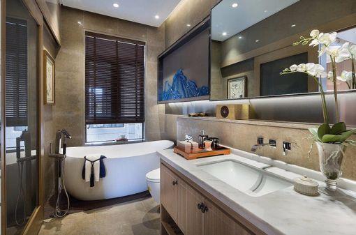 卫生间地板砖新中式风格装潢图片