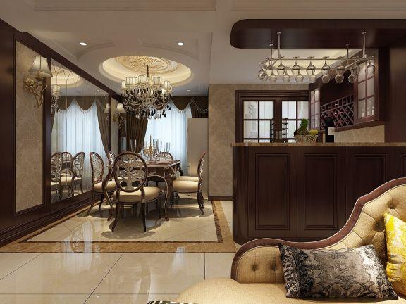 餐厅吊顶新古典风格效果图