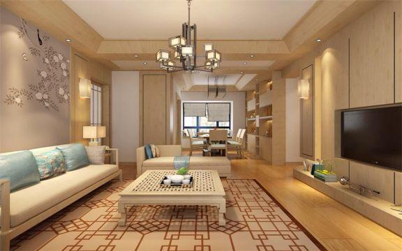 客厅茶几日式风格装饰设计图片